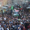 Sea of people during the funeral procession of a local militant: Fayaz Ahmad Hamaal, who was killed in a gunfight that raged in Chattabal area of Downtown on Saturday (KV Photo May, 05, 2018)