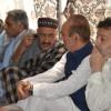 Sharma, Azad visit slain scribe's residence in Baramulla