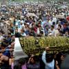 Thousands participate in the funeral of veteran journalist Shujaat Bhukhari at his ancestral village Kreeri, Baramulla- (KV Photo)