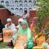 Members of APDP during their monthly sit-in at Pratap Park Srinagar, demanding the whereabouts of their loved ones