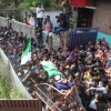 Funeral procession of Tamseel Ahmed-a civilian killed in forces' firing in South Kashmir