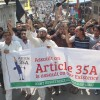Protests to protect Article 35-A continue on day 3