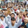 SSA teachers begin 3-day protest, stage 3 hour sit-in at Srinagar
