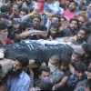 Thousands bid adieu to slain militants, accomplices offer gun salute
