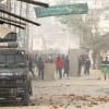 Post encounter, in which LeT commander Naveed Jatt was killed, clashes broke out in Chattergam area of Budgam     –KV Picture