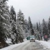 Highway closes as snow fall blocks road