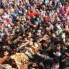 Thousands bid adieu to five slain militants in Kulgam