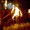 Candle light protest held